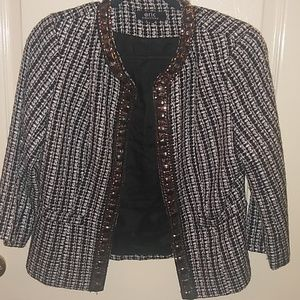Eric signature black and white jacket with sequins